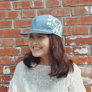 Baseball cap - blue subsection (jeans, retro, Boximiya printing)