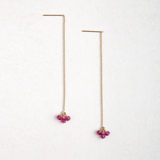 Be With You / Adjustable Length / Ruby Earrings