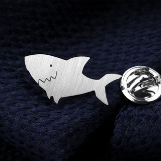 Shark Lapel Pin - 925 sterling silver Lapel Pin - Custom Lapel Pin