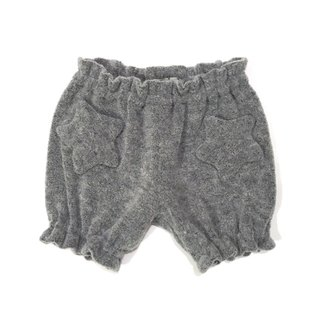 Star motif warmth worth baby short pants   Gray