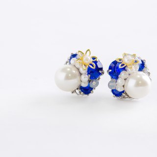 Bijou & Pearl of Puchipiasu (earrings) blue