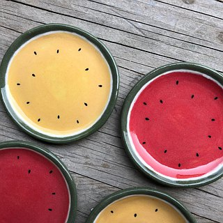 Hand made cool watermelon discs