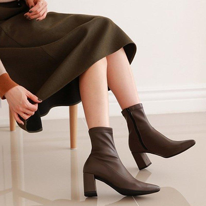 PRE-ORDER 韓國人手製 MACMOC Maxi (Brown) 短靴