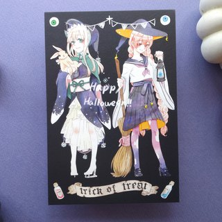 Witch Halloween Postcard