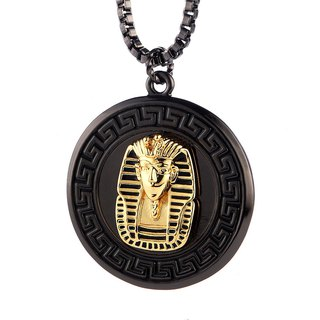 圓盤法老王面具項鍊  Disc Egypt Pharaoh Mask Necklace