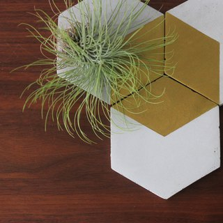 Gold color geometric hexagonal coaster / insulation pad / storage tray (2 in / 3 into / 4 into)