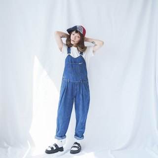 Ancient II Japanese II Blue Heart-cut Denim Vintage Worker's Pants II