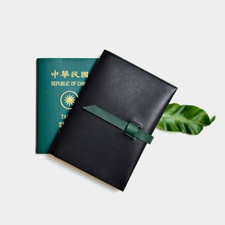 [Jungle nocturne tickets] vegetable tanned leather passport sets black leather passport clip abroad travel must pass guest lettering when gift Valentine's Day gift