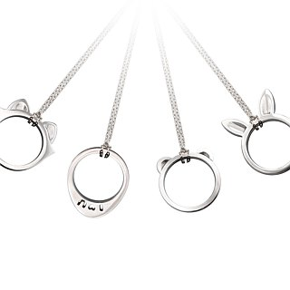 S Lee-925 silver hand safe series - safe rabbit ring / pendant +925 silver chain 16 inches