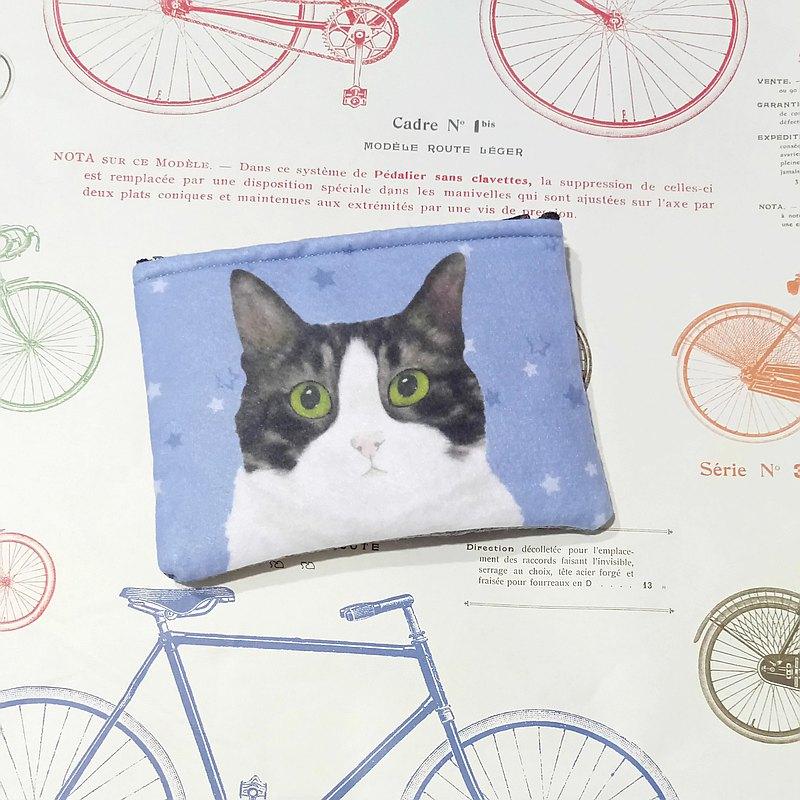 黑貓-不織布零錢包-虎斑貓貓咪
