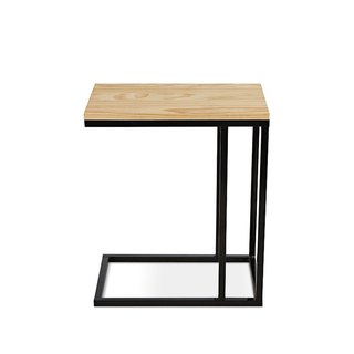 AJ2 │ Walnut │ Industrial Black │ Design Side Table
