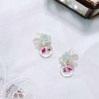 Memory Picture Book Series - Transparent Watercolor Flower Dry Flower Sweet Hand Sewing Ear Ear/Aurture
