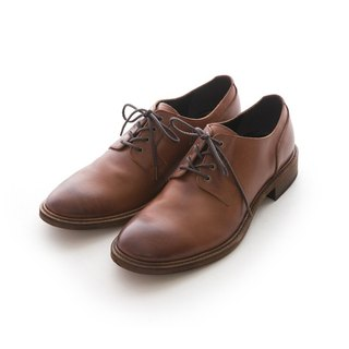 ARGIS Vibram leather sole Derby gentleman shoes #21342咖啡-Japan handmade
