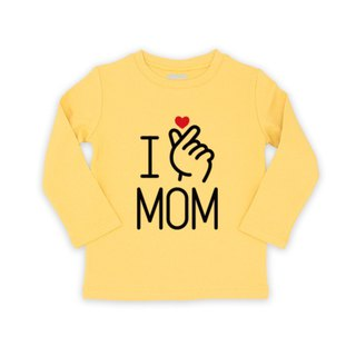 Long sleeve child T Tshirt finger love MOM