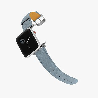 Multicolor Genuine Leather Goatskin Series Macaron Dream Powder Blue Apple Watch Apple Watch Strap