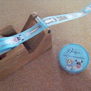 Masking tapes various dogs light blue