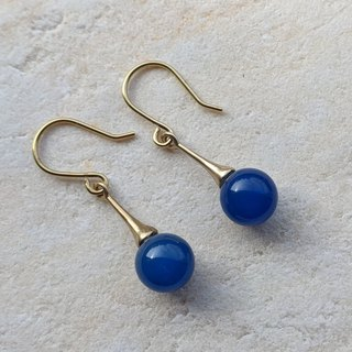 Brass and Natural Stone Earrings