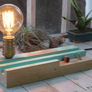 Bedside Light Night Light / Edison Light Bulb / Dimmable / Old Elm Material / Walnut _ Limited Edition