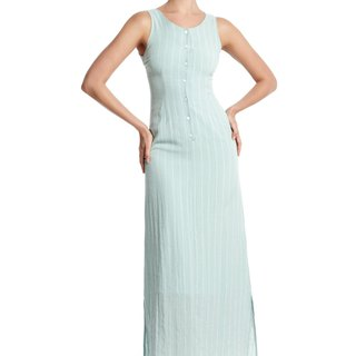 Peyton Sleeveless Dress in Mint Green