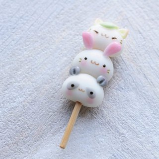 Staying cute animal: QQ group string string music - bear rabbit cat / key ring / Christmas / birthday gift