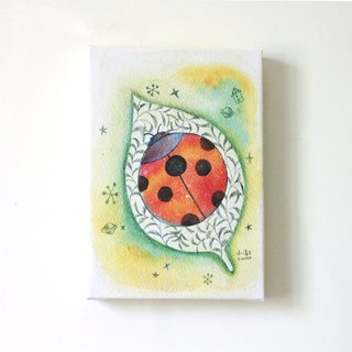 Ladybug Frameless Painting Attached to Art Clay
