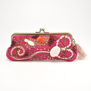Sparkle and statement glasses and pen case, pink purse, one of a kind,  No,2