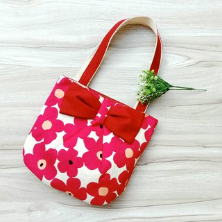 [shoulder bag] red big flower