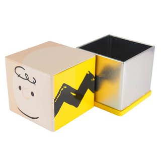Snoopy tin storage box - Charlie Brown [Hallmark-Peanuts Snoopy storage other]