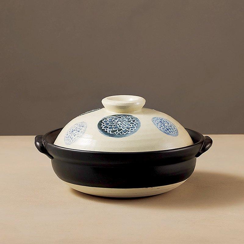 日本萬古燒 - 輕量土鍋8號 - 藍染(1.6L)