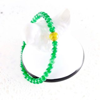Lucky Light green chalcedony bracelet