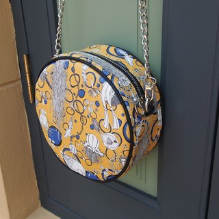Yellow Shoulder Bag Round Style - Deep Bluesea Collection