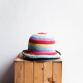 River Water Mountain - Aichi Rotary Rotation Color Love Season Antique Dome Weave Fisherman Hat Bucket Hat