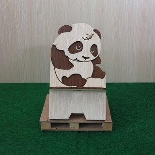 Taiwan stack [custom - color pattern lettering can be replaced] wood mobile phone holder - panda mobile phone holder / decorations / business card holder / gift / gifts / mobile phone accessories / stationery