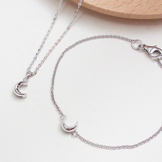 Micro Moonlight Series 2 into the preferential combination necklace bracelet hand made sterling silver silver925