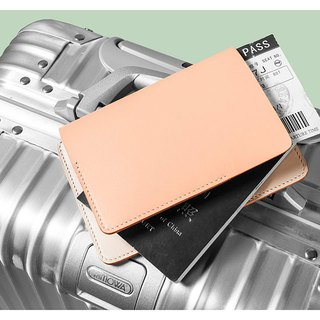 Simple small fresh leather passport holder
