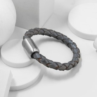 Recovery magnetic buckle braided bracelet (gray)