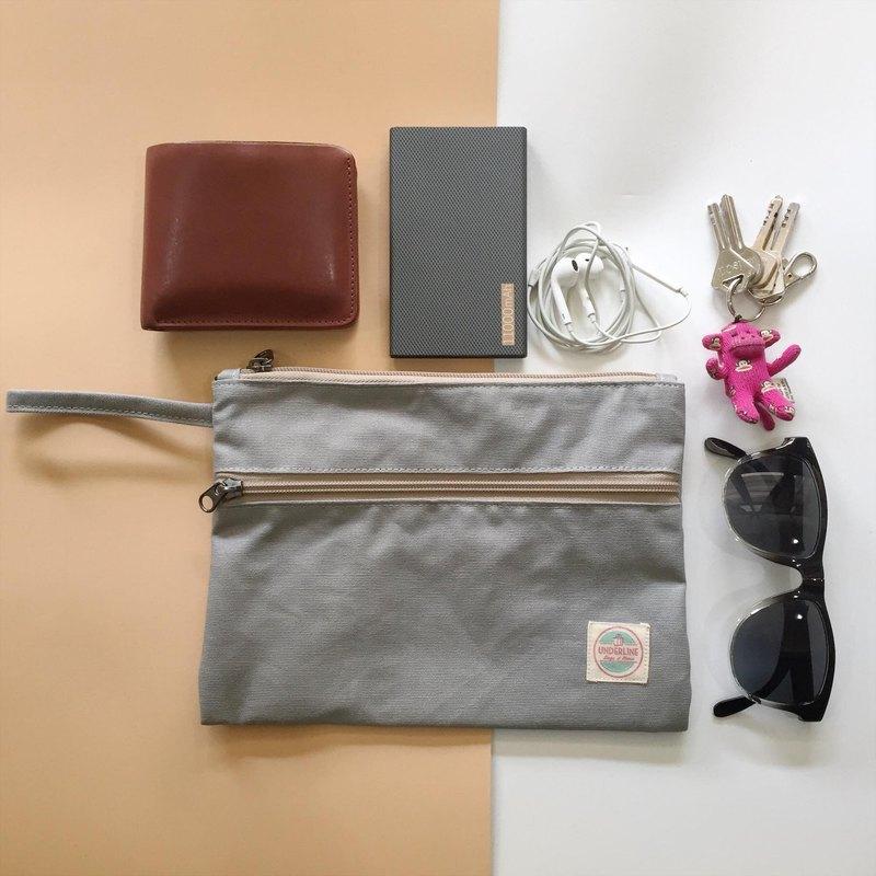 淺灰色帆布手提包HB03 /手提包/日常使用