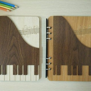 Taiwan stack [customization - color and pattern can be replaced] A5 two loose-leaf 6-hole notebook - three-dimensional piano notebook / album / stationery / folders / gifts / gifts