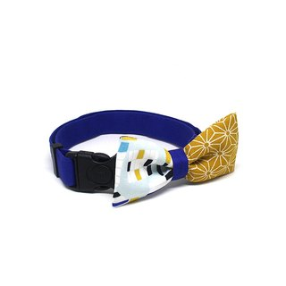 GOOOD Dog Collar (Medium Sz) | Smarty - Looking Through Window | 100% Geometric Pattern Cotton Fabric