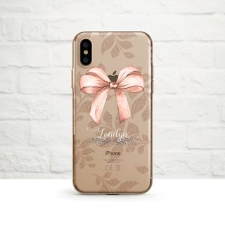 Personalise- Ribbon bow, iPhone Xs Max, Xr to iPhone SE/5, Samsung
