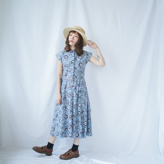 II Ancient II Japanese II Small Floral Shirt Dress II