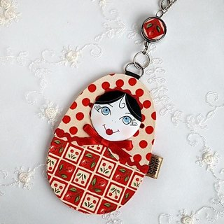 Matryoshka Pass Case · Cherry (MP-155)