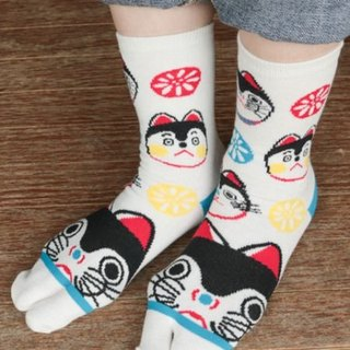 ¢ big head dog Zhang two fingers socks ✱ (medium length)