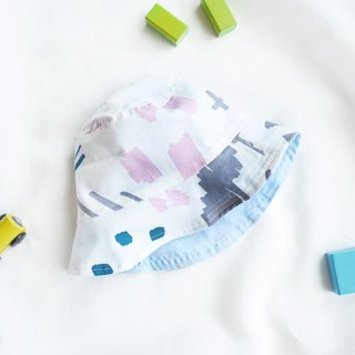 Lightweight cotton and linen child double fisherman hat | Notebook illustration
