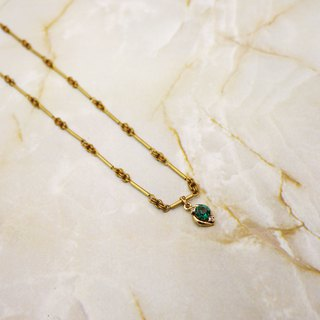 Gemstone Green Fashion Design Long Necklace