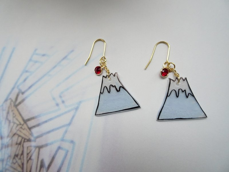 Fuji MT Shrink Plastic Earrings / Swarovski