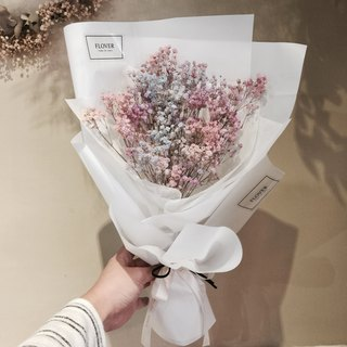 Flover Fula Rainbow Star Dry Bouquet Dry Flower Small Bouquet Color Gypsophila