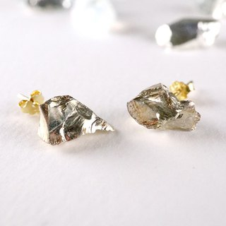 STAR STONE stud earrings - GOLD