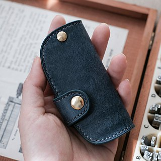 Double-layer leather car key holster custom-made brand car key holster free English branding