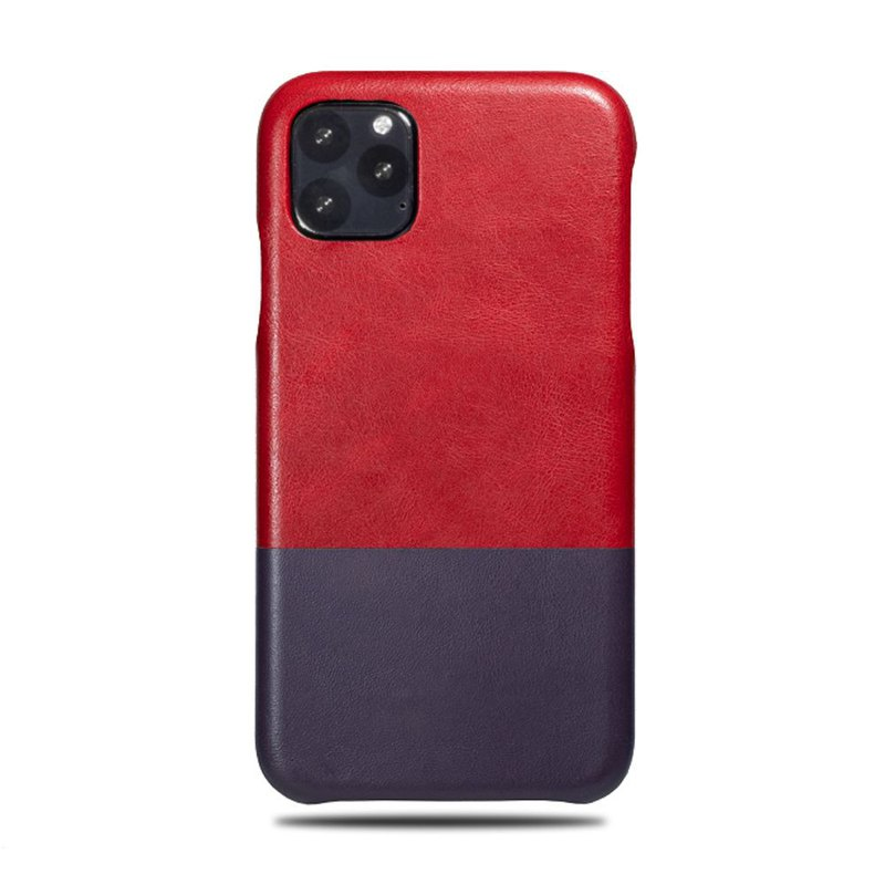 Customized red red with purple leather IPHONE 11 PRO MAX mobile phone case